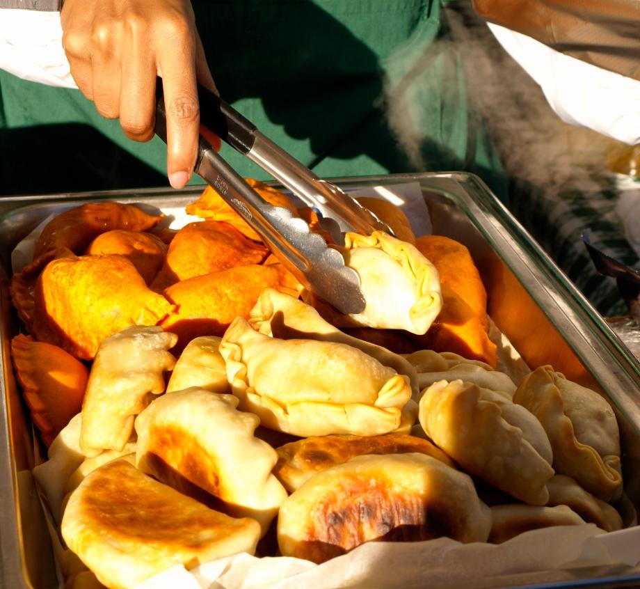 caribbean veggie samosas