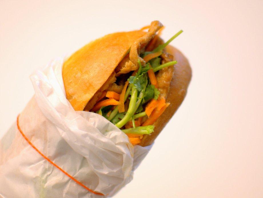 tofu banh mi, saigon sandwich