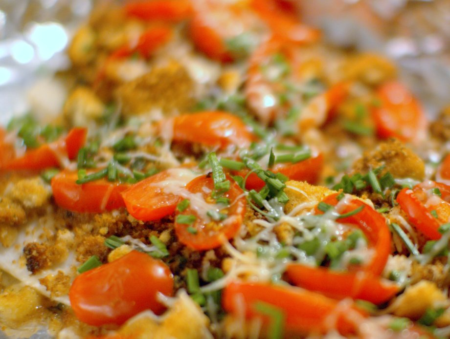 fish with parmesan and tomatoes