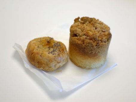 knish and tea cake, 20th century cafe