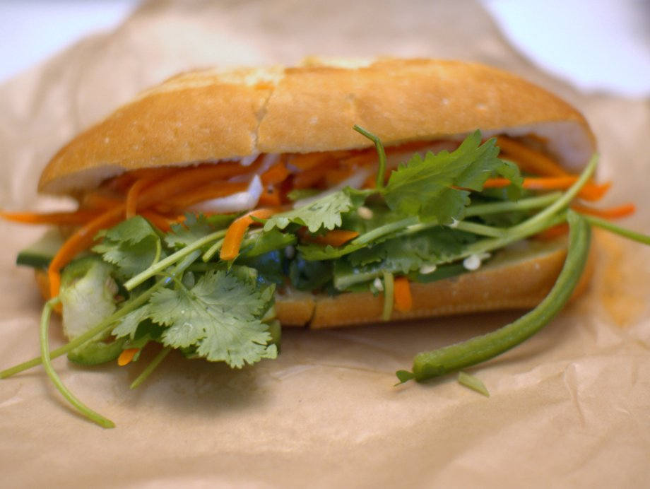 tofu banh mi, dragon eats