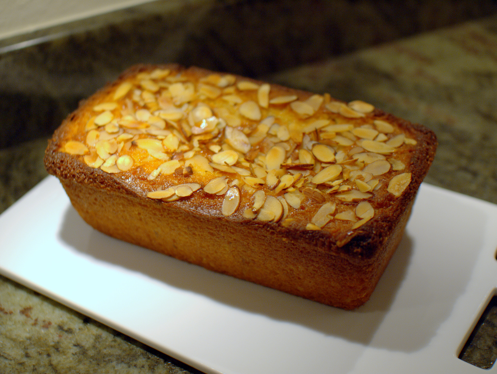 almond and rose water cake with orange syrup